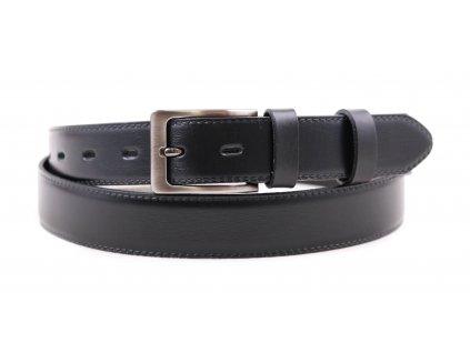 Pánský společenský kožený opasek Penny Belts 308 černý