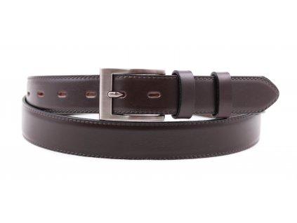 Pánský společenský kožený opasek Penny Belts 309 tmavě hnědý