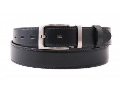 Pánský kožený opasek Penny Belts 3563 společenský černý