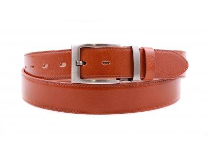 Pánský kožený opasek Penny Belts 3564 společenský koňakově hnědý