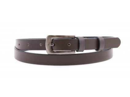 Dámský úzký kožený opasek Penny Belts 2040 šedý