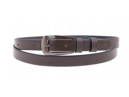 Dámský úzký kožený opasek Penny Belts 2041 šedý