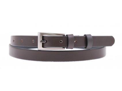 Dámský úzký kožený opasek Penny Belts 2042 šedý