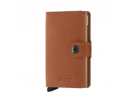 Secrid Miniwallet malá kožená peněženka MVg Caramello 1 Front