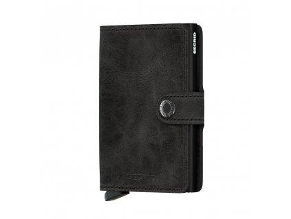 Malá kožená peněženka SECRID Miniwallet Vintage Black