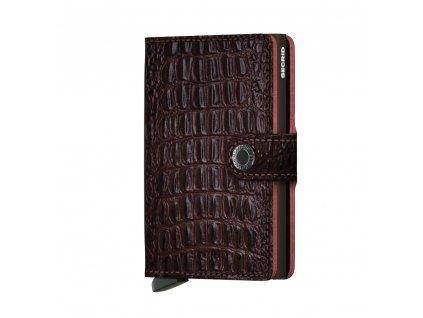 Luxusní kožené pouzdro peněženka z kůže - krokodýlí vzor