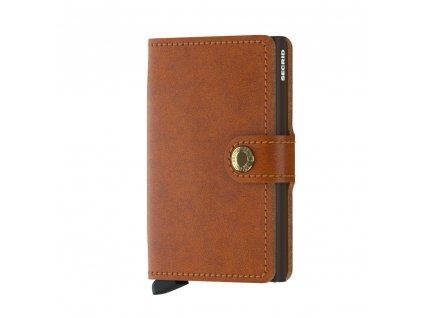 Kožená peněženka SECRID Miniwallet Original Cognac koňaková