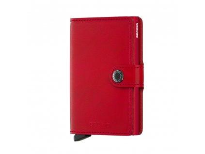 Kožená peněženka SECRID Miniwallet Original Red červená