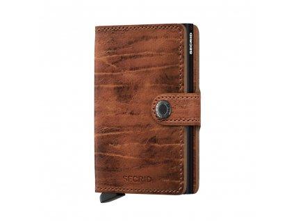 Kožená peněženka SECRID Miniwallet Dutch Martin Whiskey hnědá