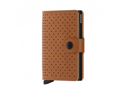 Kožená peněženka SECRID Miniwallet Perforated Cognac