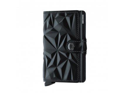 Kožená peněženka SECRID Miniwallet Prism Black černá