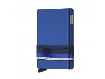 SECRID Cardslide Blue modrá hliníková peněženka - nezničitelná vysouvací s RFID ochranou