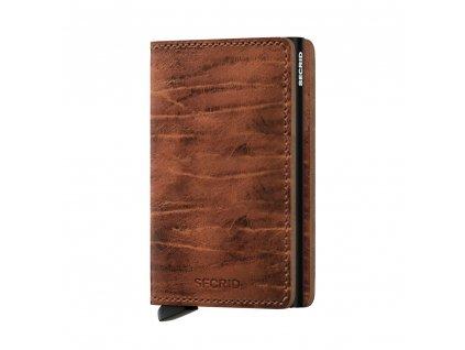 Kožená peněženka SECRID Slimwallet Dutch Martin Whiskey hnědá