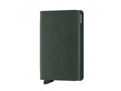 Kožená peněženka SECRID Slimwallet Original Green zelená