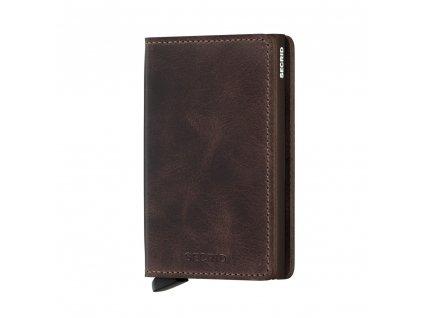 Kožená peněženka SECRID Slimwallet Vintage Chocolate hnědá