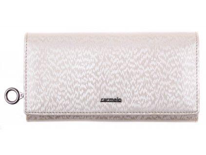 Velká dámská kožená peněženka Le Sands 2100H krémová
