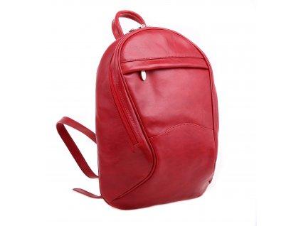 Dámský kožený batoh HAJN mod. Klara červený