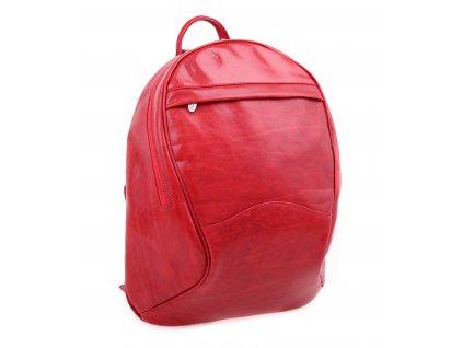 Dámský kožený batoh HAJN mod. Beata velký A4 červený