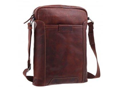 Pánská kožená taška přes rameno Lagen LN 24425 koňakově hnědá
