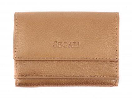 Malinká dámská kožená peněženka Segali SG1756 MINI zlatá