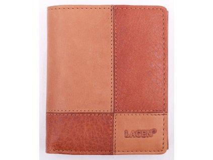Pánská kožená peněženka Lagen V28 V koňakově hnědá