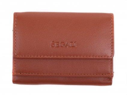 peněženka Segali SG1756 MINI koňakově hnědá