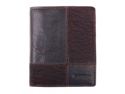 kožená peněženka Lagen V28 T tmavě hnědá