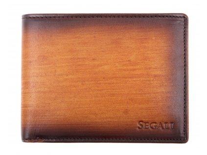 Pánská kožená peněženka Segali 929204030 koňakově hnědá patina