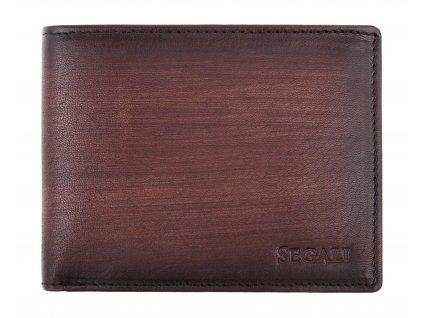 Pánská kožená peněženka Segali 929204030 tmavě hnědá patina