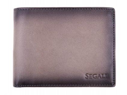 Pánská kožená peněženka Segali 929204030 šedá patina