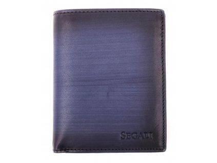 Pánská kožená peněženka Segali 9292042519 tmavě modrá patina