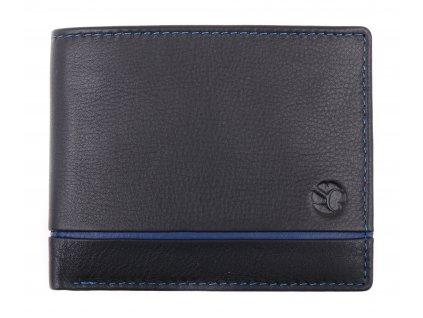 Menší pánská kožená peněženka Segali 1806 černá / tmavě modrá