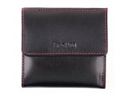 Dámská kožená peněženka Segali SG 60337 černá + červená