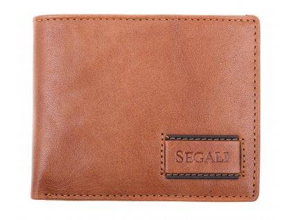 Pánská kožená peněženka Segali 70076 TAN koňakově hnědá