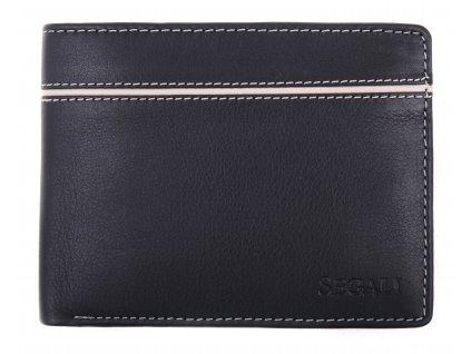 Pánská kožená peněženka Segali SG - 7101 černá