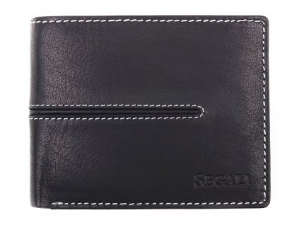 Menší pánská kožená peněženka Segali 7105 černá