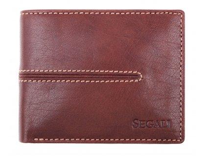 Menší pánská kožená peněženka Segali 7105 hnědá