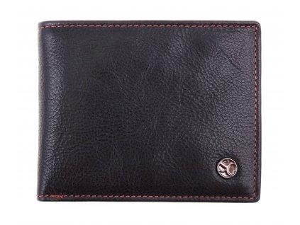 Pánská kožená peněženka Segali 907.114.026 černá + červená