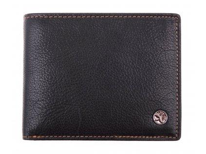 Pánská kožená peněženka Segali 907.114.026 černá + koňak