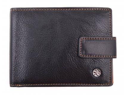 Pánská kožená peněženka Segali 907.114.2007 C černá + koňak