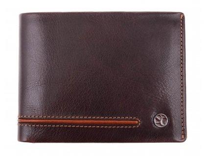 Pánská kožená peněženka Segali 753.115.2007 tmavě hnědá + koňak