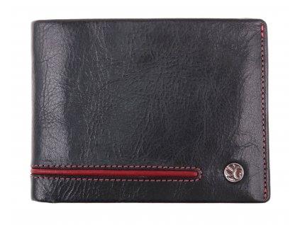 Pánská kožená peněženka Segali 753.115.2007 černá + červená