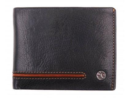 Pánská kožená peněženka Segali 753.115.026 černá + koňak