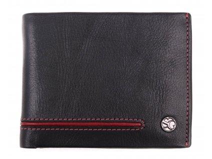 Pánská kožená peněženka Segali 753.115.026 černá + červená