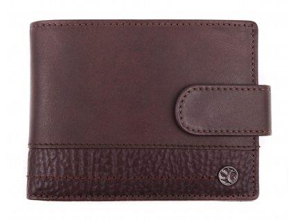 Pánská kožená peněženka Segali 951.320.005L tmavě hnědá