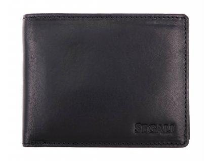 Pánská kožená peněženka Segali 517.797.026 černá