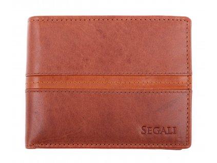 Pánská kožená peněženka Segali 720.137.2203 koňakově hnědá