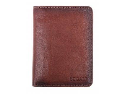Pánská kožená peněženka Segali W-81112 tmavě hnědá