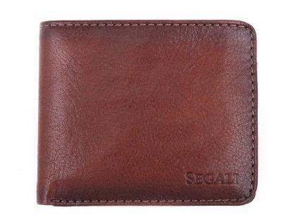 Pánská kožená peněženka Segali 81110 hnědá patina