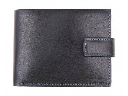 Pánská kožená peněženka Hajn 587459.5 černá + modrá